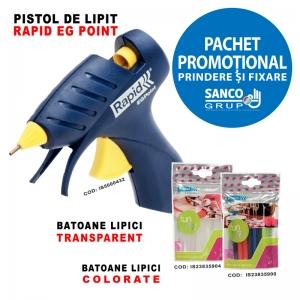 Pachet Promotional: Pistol de lipit EG POINT, 1 x pachet LIPICI TRANSPARENT si 1 x pachet LIPICI COLORAT0
