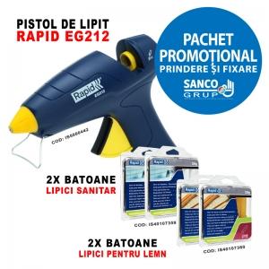 Pachet Promotional: Pistol de lipit EG212, 2 x pachete LIPICI SANITAR si 2 x pachete LIPICI PENTRU LEMN0