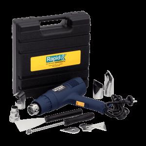 Pistol aer cald Regulator 2000 W, 500l/min, 60/600ᄚC Kit cu raclete vopsea si 4 capete6