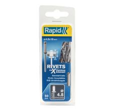 Popnituri Rapid Otel inoxidabil - diametrul de 4.8mm x 18 mm, burghiu inclus, 50 buc/ blister1