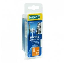 Popnituri Rapid etansare - diametrul de 4 mm x 16 mm, aluminiu, burghiu inclus, 50 buc/ blister0
