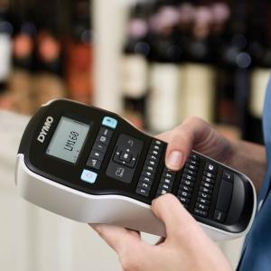 Aparat de etichetat profesional DYMO LabelManager 160P si o caseta etichete profesionale, 12mmx3m, negru/argintiu, DY 20844017