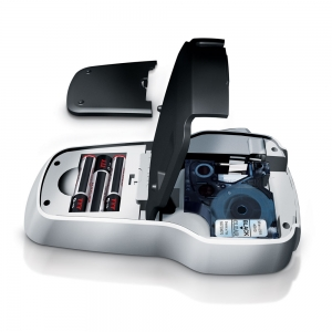 Aparat de etichetat profesional DYMO LabelManager 160P si o caseta etichete profesionale, 9mmx7m, negru/alb, DY946320 S09463208