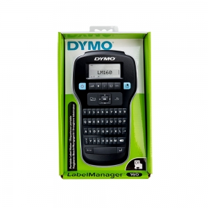 Aparat de etichetat profesional DYMO LabelManager 160P si o caseta etichete profesionale, 12mmx3m, negru/argintiu, DY 208440111