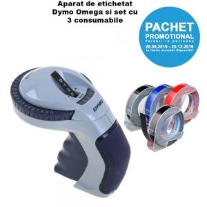 Aparat etichetat Dymo Omega si 4 role etichete Dymo Omega, DY12748 S0717930 DY847750 DY847750 DY84775028