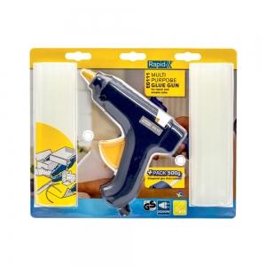 Pistol de lipit Rapid EG111, 250W, 200g/h, cu diametrul de 12mm, 500g batoane de lipit universale incluse1