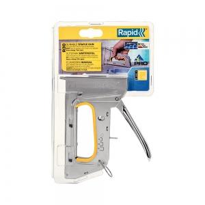 Capsator tacker Rapid PRO R30E nas lung, ajustare forta capsare in 3 trepte, capse 13/4-8 mm, 5 ani garantie, 5 ani garantie, fabricat in Suedia 2051085011