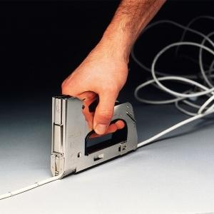 "Capsator tacker cabluri Rapid PRO 36E, capse semirotunde ""U"" 36/10-14 mm, reglare forta capsare in 3 trepte, diametru cablu 6 mm, joasa tensiune, 5 ani garantie, fabricat in Suedia 205118115"