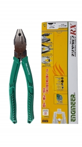 Plier Combined Plier ENGINEER PZ-59 Pliers, Extraction Screws, 200mm, Cut Ø3 2mm, 300g, Green, Made Japan7
