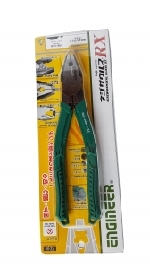 Plier Combined Plier ENGINEER PZ-59 Pliers, Extraction Screws, 200mm, Cut Ø3 2mm, 300g, Green, Made Japan8