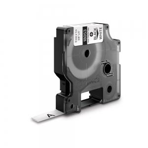 Industrial DYMO, Heat shrink tube labels, 9mm x 1.5m, black on white, 180530