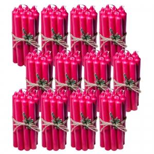 12 Seturi Lumanari Rosii de 10 buc, drepte 2,2*22cm1