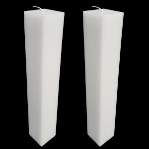 Set 2 Lumanari Nunta,model Patrat, H=35 cm / L= 5,5 cm2