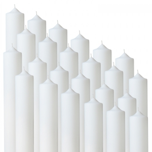 Bax 24 buc Lumanari Nunta / Botez , H= 35 cm / D= 4,5 cm0