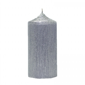 Bax 12 Lumanari Argintii, cilindru 13 cm2