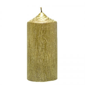 Set 4 Lumanari Aurii, cilindru 13 cm2