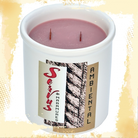 Lumanare Parfumata AMBIENTAL, cu 2 fitile din lemn1