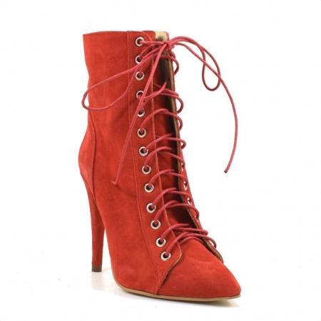Ghete dama rosii cu toc de 10 cm Sabrina2