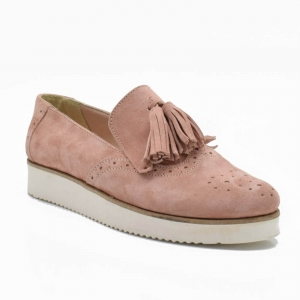 Pantofi din piele naturala Simonne Roze1