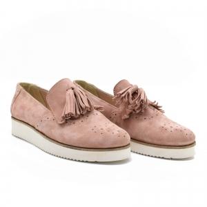 Pantofi din piele naturala Simonne Roze