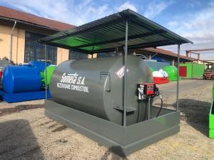 Rezervor suprateran 9000 litri cu copertină și pompă CUBE 56