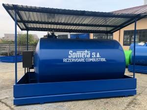 Rezervor suprateran  9000 litri cu copertină și pompă ST BOX
