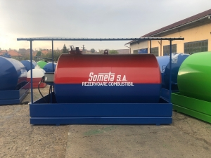 Rezervor suprateran 9000 litri cu copertină și pompă CUBE 70 electronica