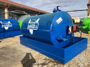 Rezervor suprateran 9000 litri cu pompa Cube 56 - albastru