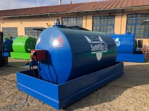 Rezervor suprateran 9000 litri cu pompa Cube 56 - albastru1