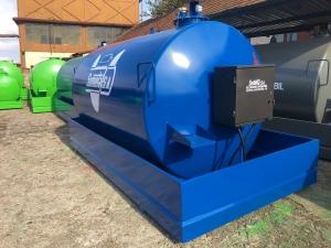 Rezervor suprateran 9000 litri cu pompa ST BOX - albastru