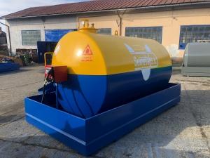 Rezervor suprateran 9000 litri cu pompa Cube56 - galben-albastru