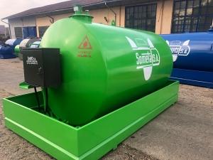 Rezervor suprateran 9000 litri cu pompa ST BOX - verde
