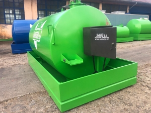 Rezervor suprateran 9000 litri cu pompa ST BOX - verde2
