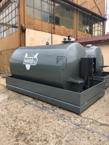 Rezervor suprateran 9000 litri cu pompa ST BOX - gri