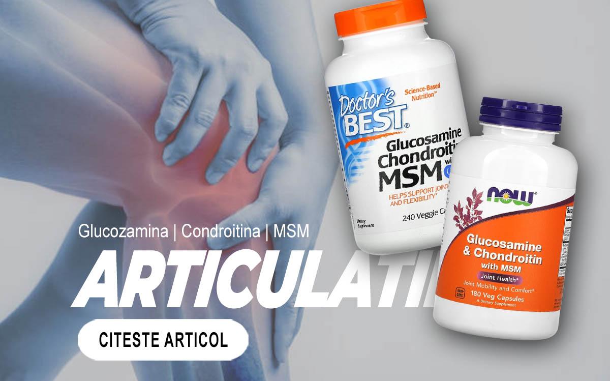 ARTICULATII - Glucozamina Condroitina MSM în procesele de formare a cartilajelor