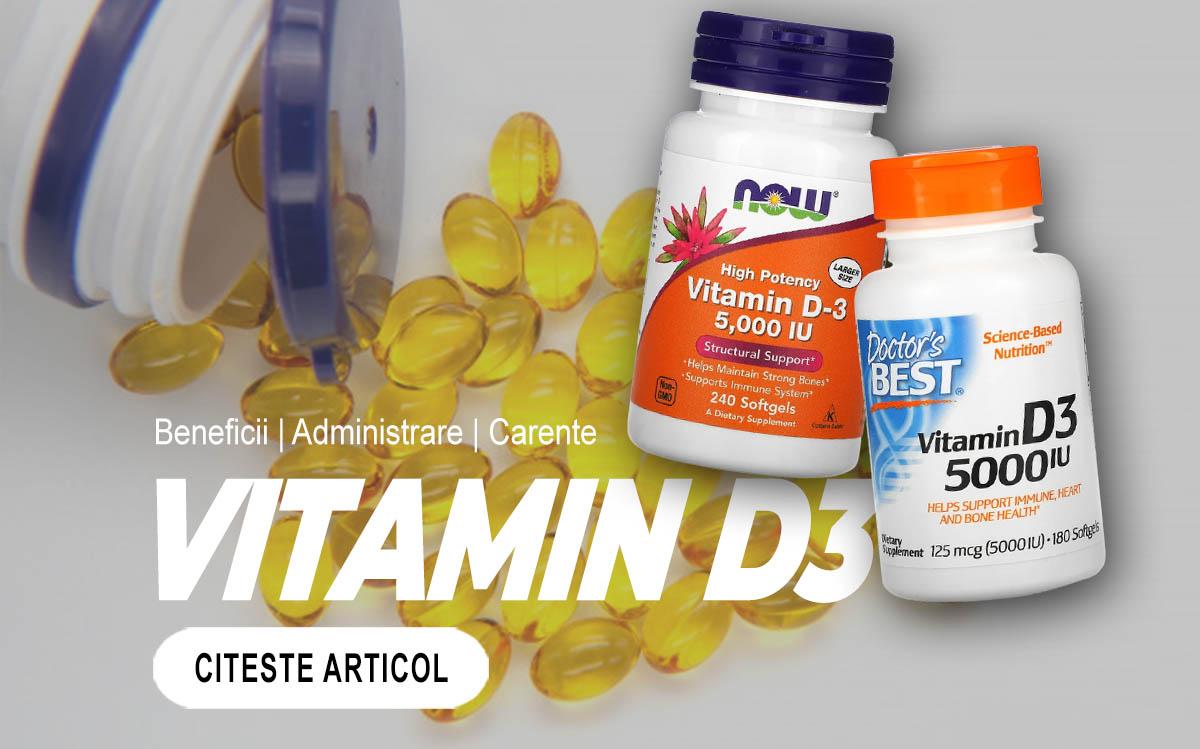 VITAMINA D3 - Beneficii pentru organism și simptomele carenței
