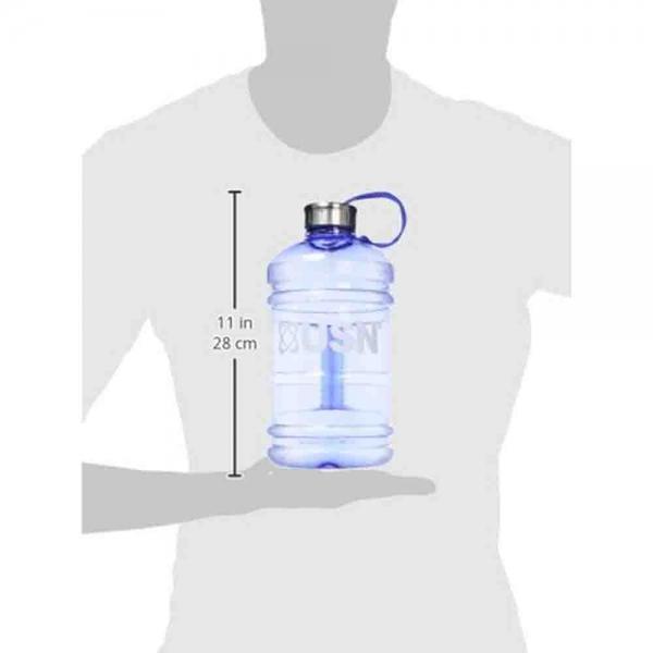 Bidon hidratare, USN, 2200ml transparent albastru 1