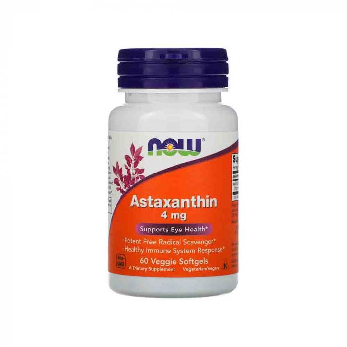 Astaxanthin, (Antioxidant) , 4 mg,Astaxantina Now Foods, 60 softgels 0