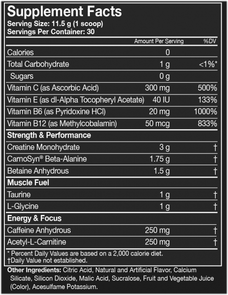 Assault Energy + Endurance, MusclePharm, 345g 1