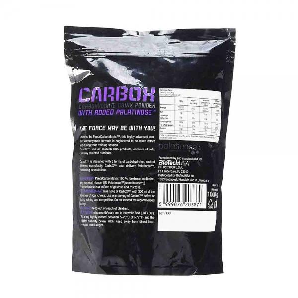 Carbox, Sursa de carbohidrati, BioTech USA, 1000g 1