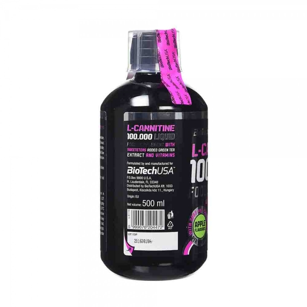 L-Carnitina 100.000 lichid, Biotech USA, 500ml 1