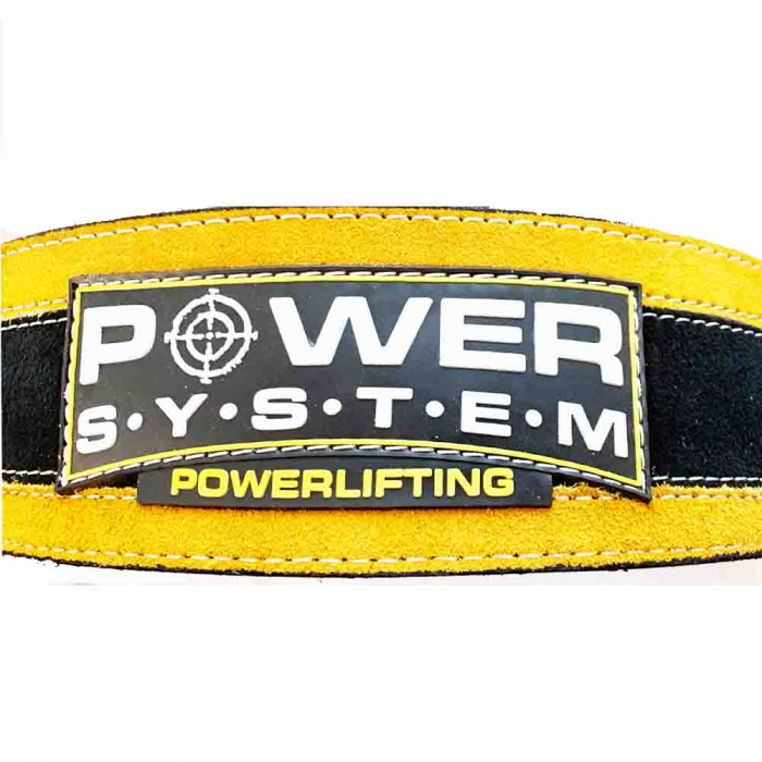Centura de POWERLIFTING - STRONGLIFT cu catarama, Power System, Cod: 3840 4