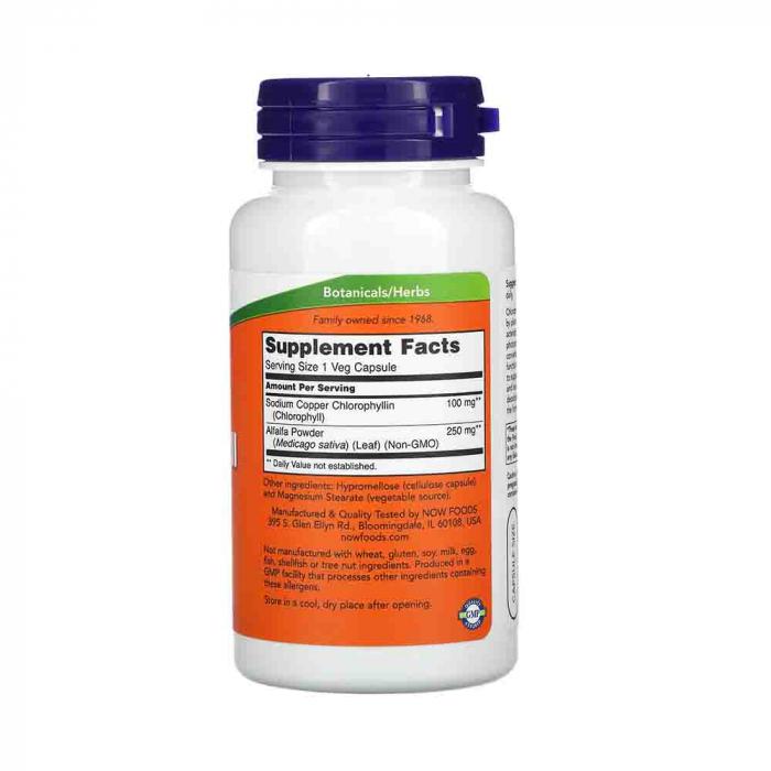 chlorophyll-clorofila-100mg-now-foods 1