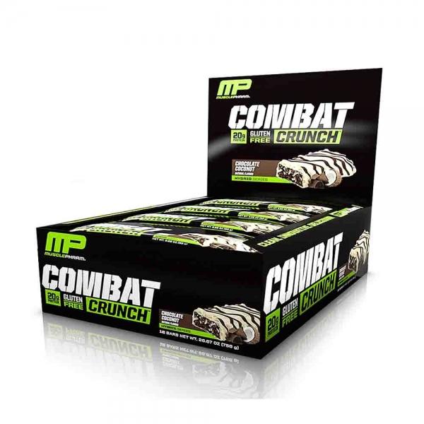 Combat Crunch Bar, MusclePharm, 12x63g 0