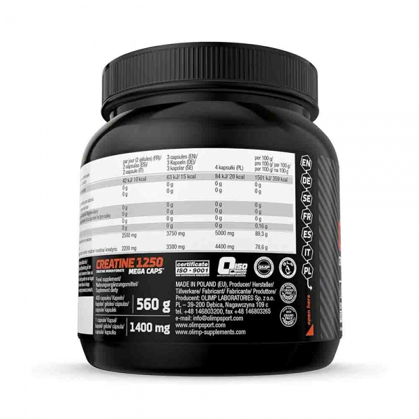 Creatine Mega Caps 1250 2