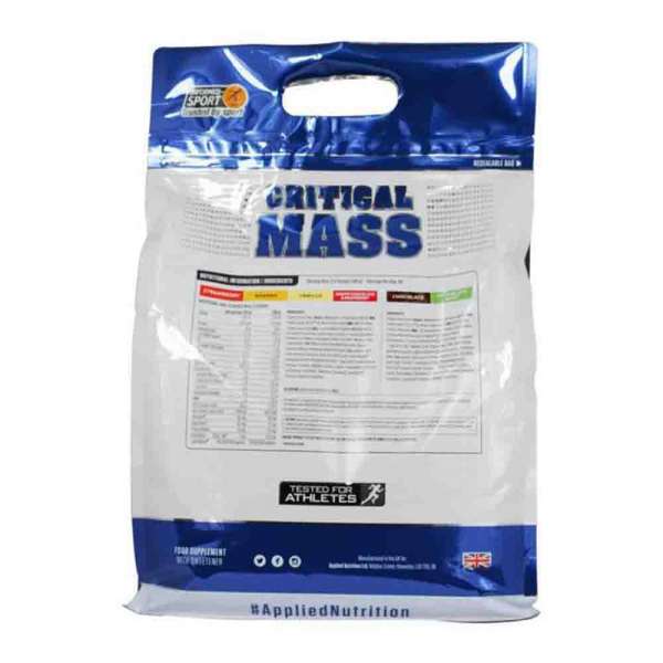 Critical Mass Gainer, Applied Nutrition, 2.4kg/6kg 3
