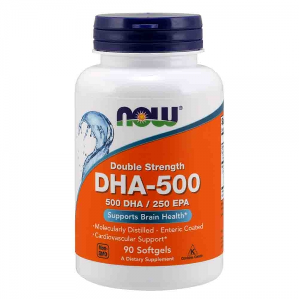 DHA-500, Now Foods, 500 DHA/250 EPA, 90 softgels 0
