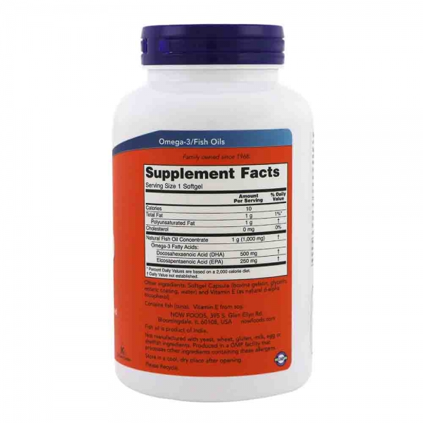 DHA-500, Now Foods, 500 DHA/250 EPA, 90 softgels 1