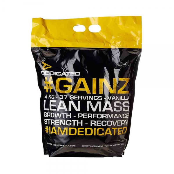 Gainz Mass Gainer, Dedicated, 4 Kg 0