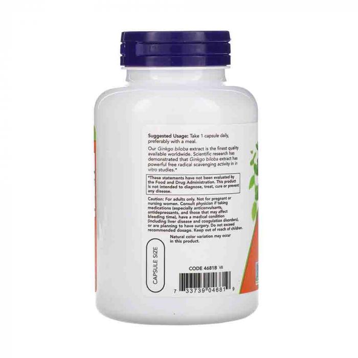 Now Foods, Ginkgo Biloba, Double Strength, 120 mg, 200 Veg Capsules 1